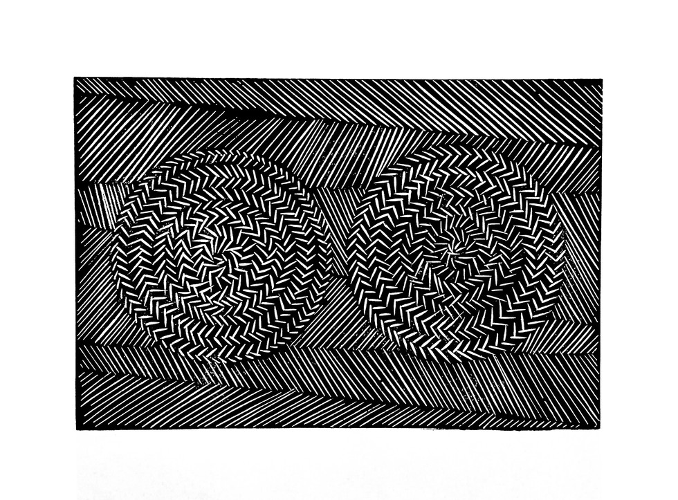 linocut spikes