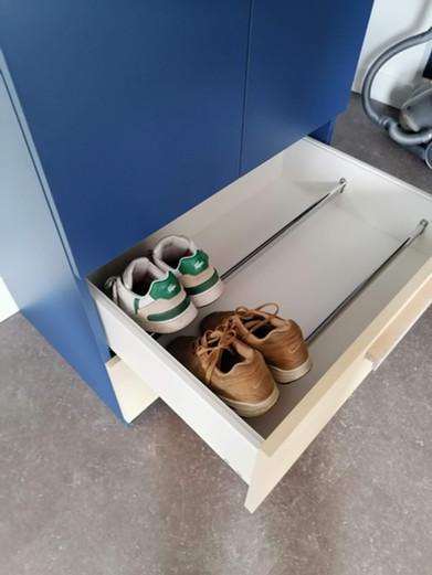 aménagement des tiroirs pour les chausures