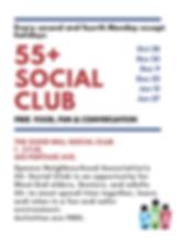 FINAL WINTER 2019 55+ Social club flyer.