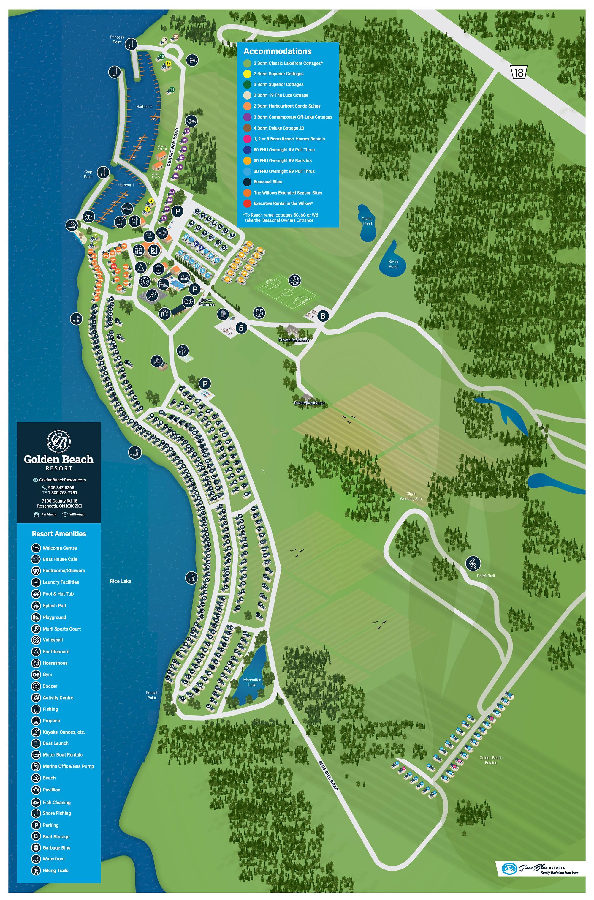 5xGolden Beach Resort Map 17.5x26.5NOMAR