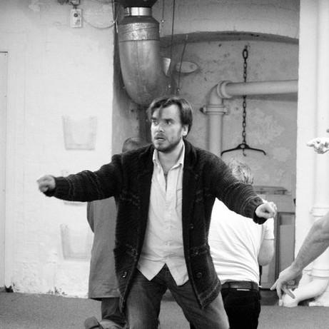Richard Delaney in Rehearsal