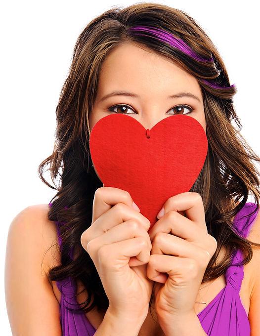 ragazza cuore