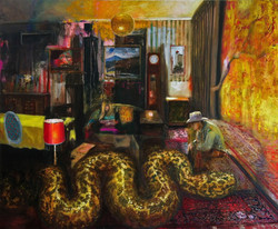Armin-Voelckers_Living-Room-Snake_140x170cm_Oel-Lwd_2014-967x800