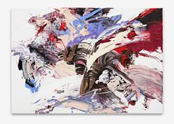_Mock Battle_,  70 x 100 cm, Oil_Canvas, 2016, 2016160413_Heiner_003