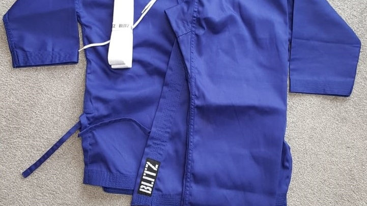 Kids Blue Student Karate Suit (Size 00/120cm)