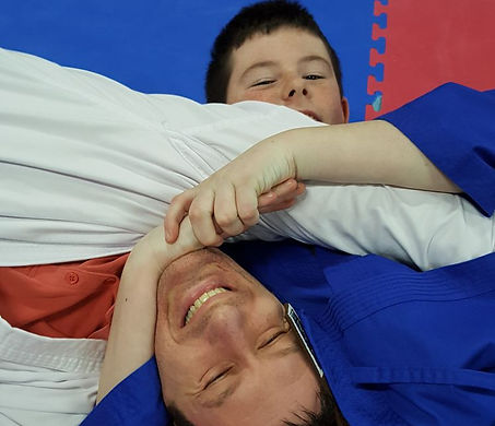 Dad and lad training together