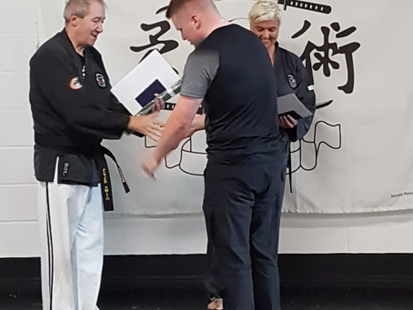 Two 4th Kyu Belts Awarded!