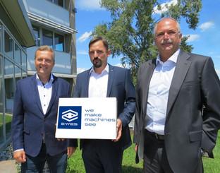 Die drei Geschäftsführer der EYYES GmbH - Dr. Wolfgang Domann, Dipl.-Ing. Johannes Traxler und Dipl.-Ing. Robert Pangerl