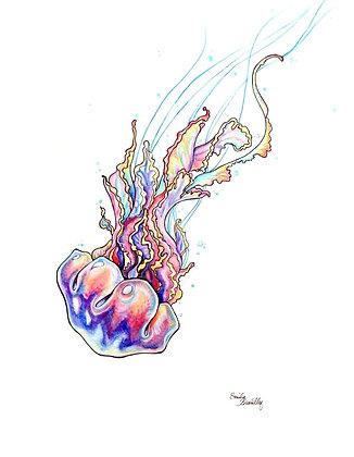 Rainbow Jellyfish Greeting Card