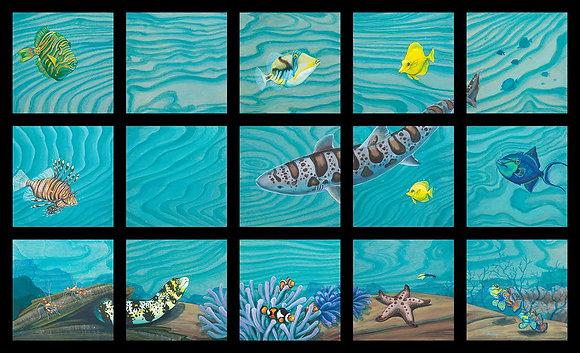 """""""Underwater Menagerie"""" 15-piece Artwork"""