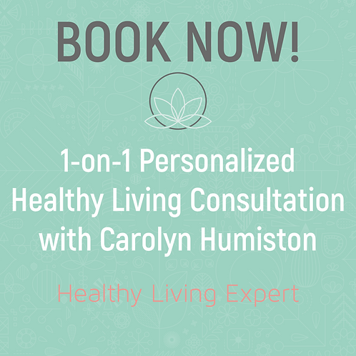 1-on-1 Personalized Healthy Living Consultation