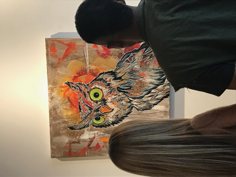 Screech Owl Painting