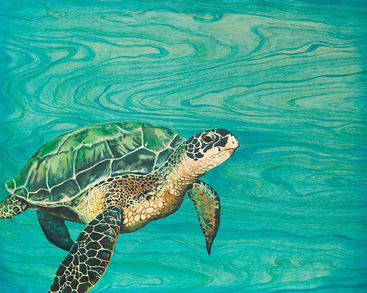"""Honu"" Greeting Card"