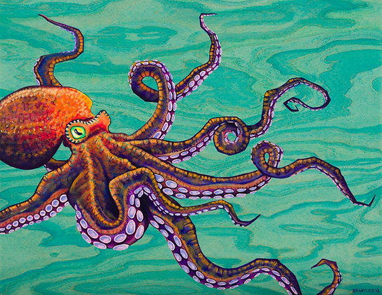 """Tentacles"" Greeting Card"
