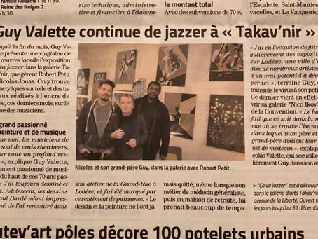 "Article Midi Libre sur l'expo ""Ca va Jazzer"""