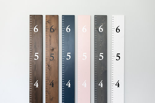 Growth Chart with Painted Numbers