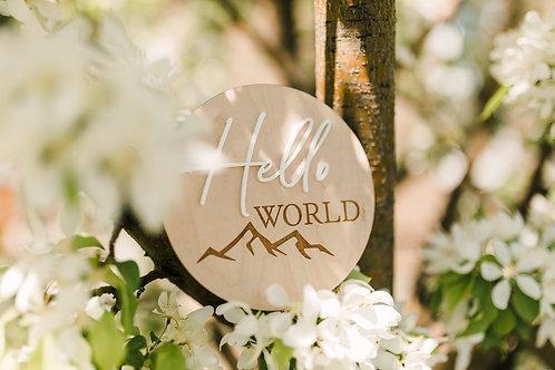 Hello World Photo Announcement Prop