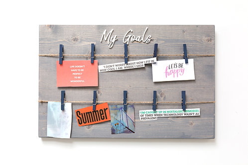 "3D 11"" x 17"" 'My Goals' Vision Board"