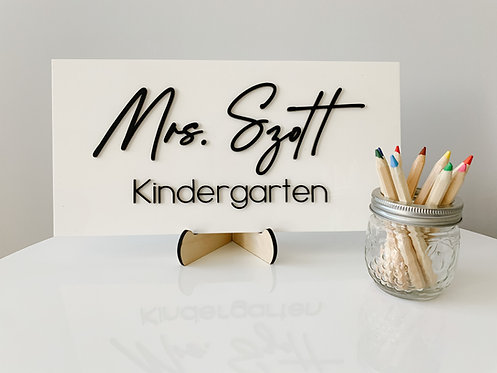 Custom Acrylic Name Signs (various sizes)