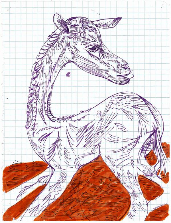 study for Purpule Horse