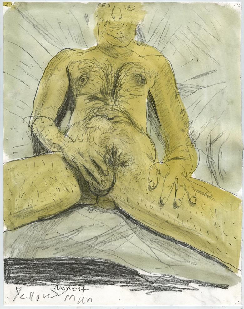 Yellow Modest Man