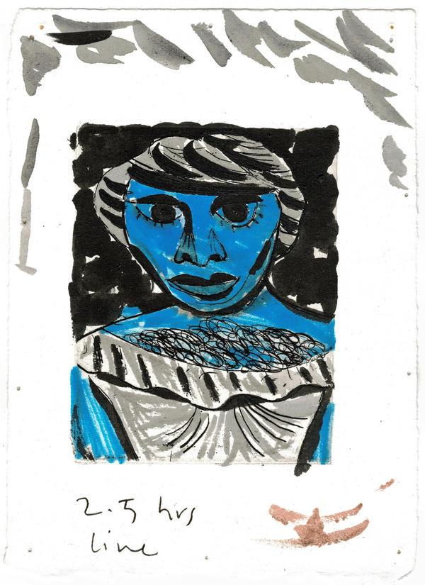 Blue Figure - Proof/Study