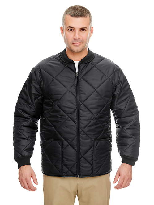 UltraClub Adult Puffy Workwear Jacket with Quilted Lining 8467
