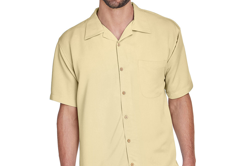Harriton Men's Bahama Cord Camp Shirt M570