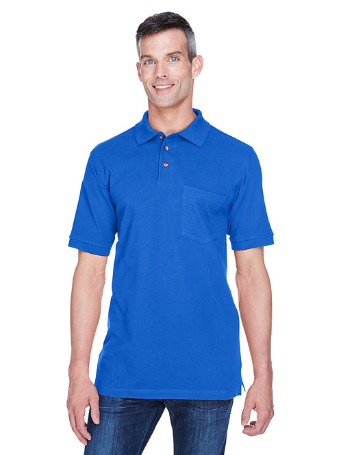 Harriton Adult 6 oz. Ringspun Cotton Piqué Short-Sleeve Pocket Polo M200P