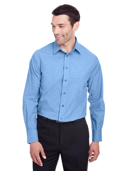 Devon & Jones Men's Crown Collection™ Stretch Pinpoint Chambray Shirt DG562