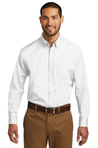 Port Authority Tall Long Sleeve Carefree Poplin Shirt TW100