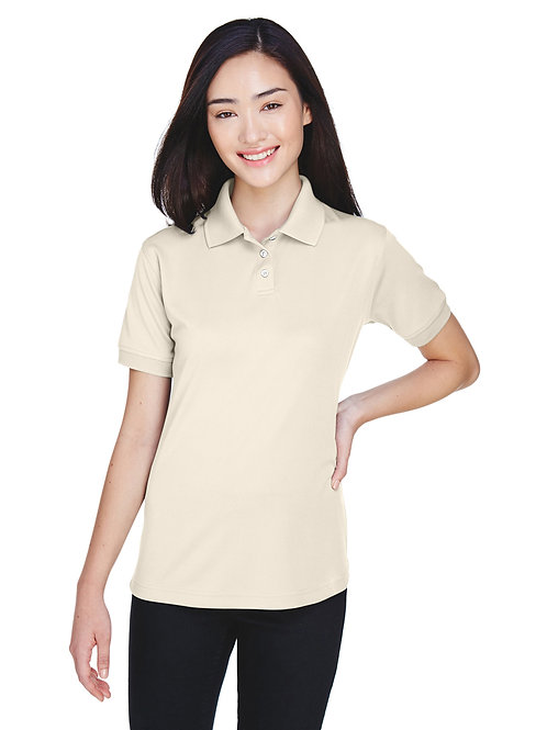 UltraClub Ladies' Platinum Performance Piqué Polo with TempControl Technology