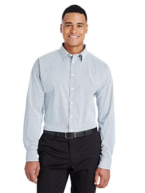 Devon & Jones CrownLux Performance™ Men's Micro Windowpane Shirt DG540
