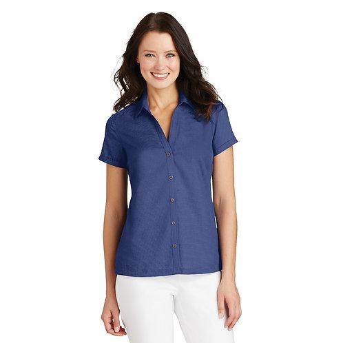 Port Authority Ladies Textured Camp Shirt L662