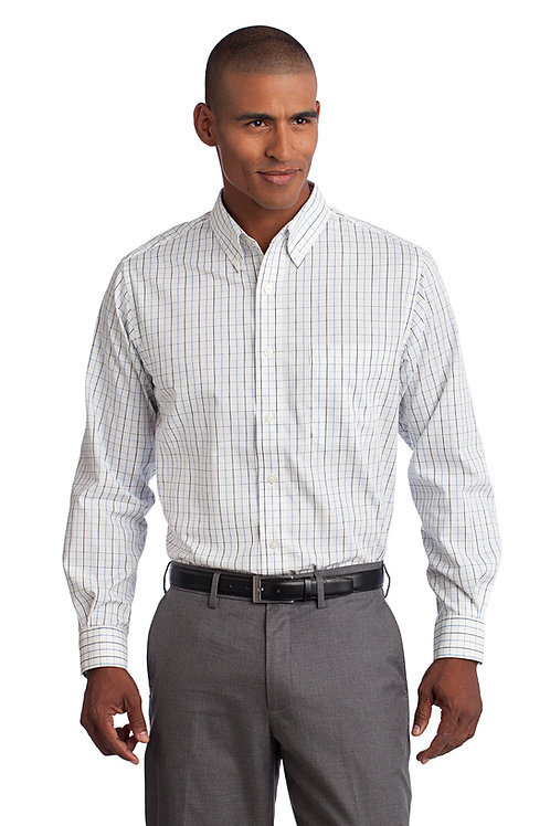 Port Authority Tall Tattersall Easy Care Shirt TLS642