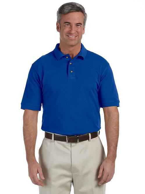 Harriton Men's Tall 6 oz. Ringspun Cotton Piqué Short-Sleeve Polo M200T