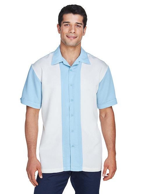 Harriton Men's Two-Tone Bahama Cord Camp Shirt M575