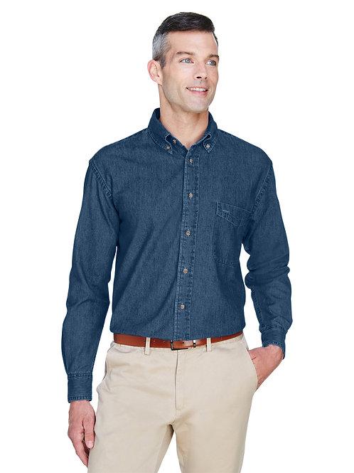 Harriton Men's 6.5 oz. Long-Sleeve Denim Shirt M550