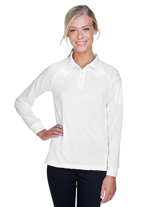 Harriton Ladies' Tactical Long-Sleeve Performance Polo M211LW