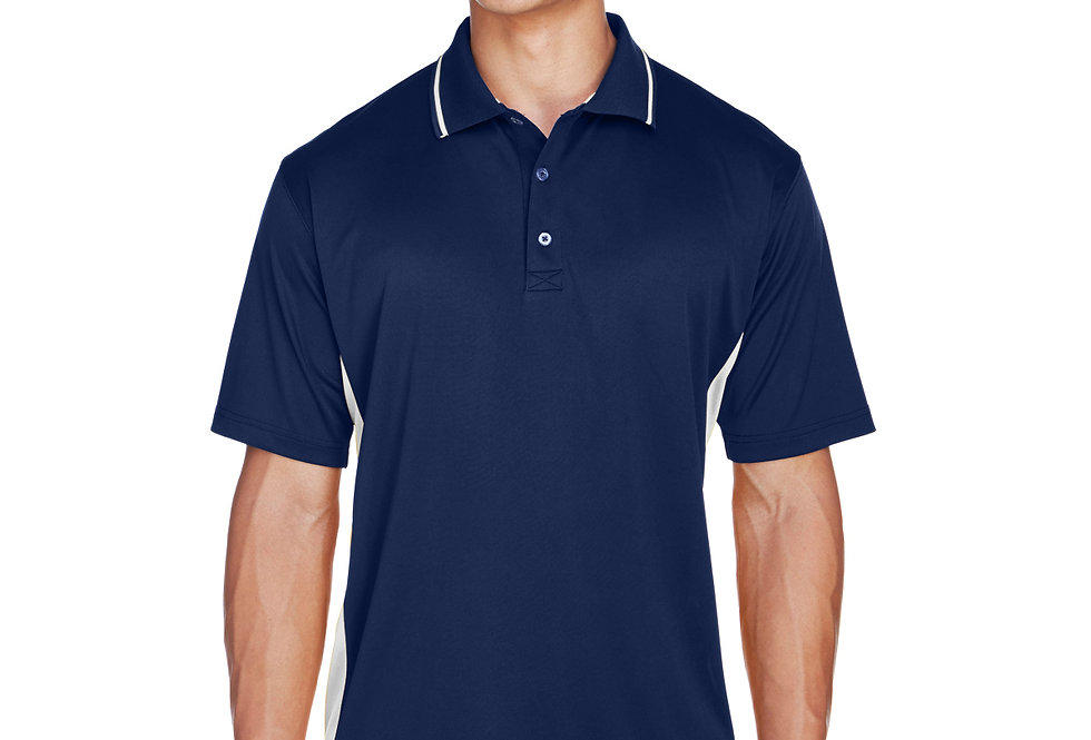 UltraClub Men's Cool & Dry Sport Two-Tone Polo 8406
