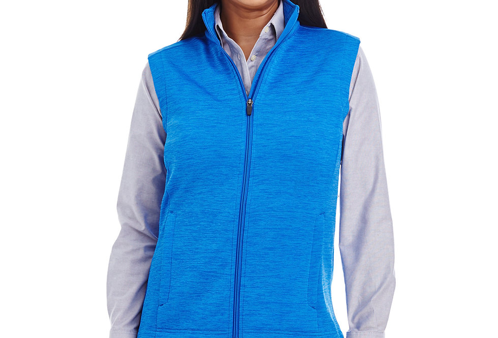 Devon & Jones Ladies' Newbury Mélange Fleece Vest DG797W