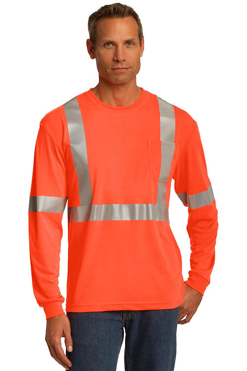 CornerStone® ANSI 107 Class 2 Long Sleeve Safety T-Shirt CS401LS