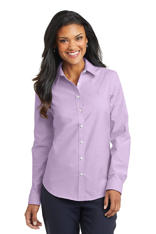 Port Authority® Ladies SuperPro™ Oxford Shirt L658