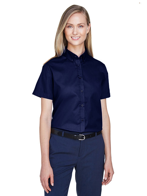 Core 365 Ladies' Optimum Short-Sleeve Twill Shirt 78194