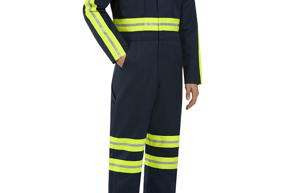 Red Kap - Enhanced Visibility Action Back Coverall - Long Sizes - CT10ENL