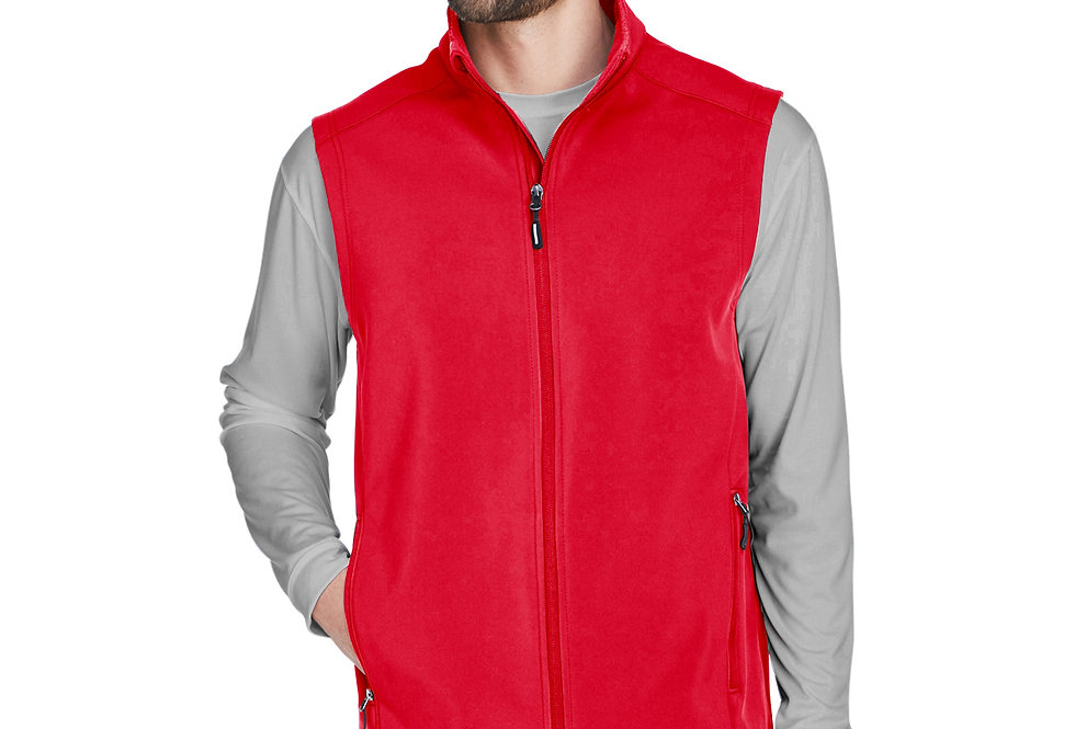 Core 365 Men's Cruise Two-Layer Fleece Bonded Soft Shell Vest CE701