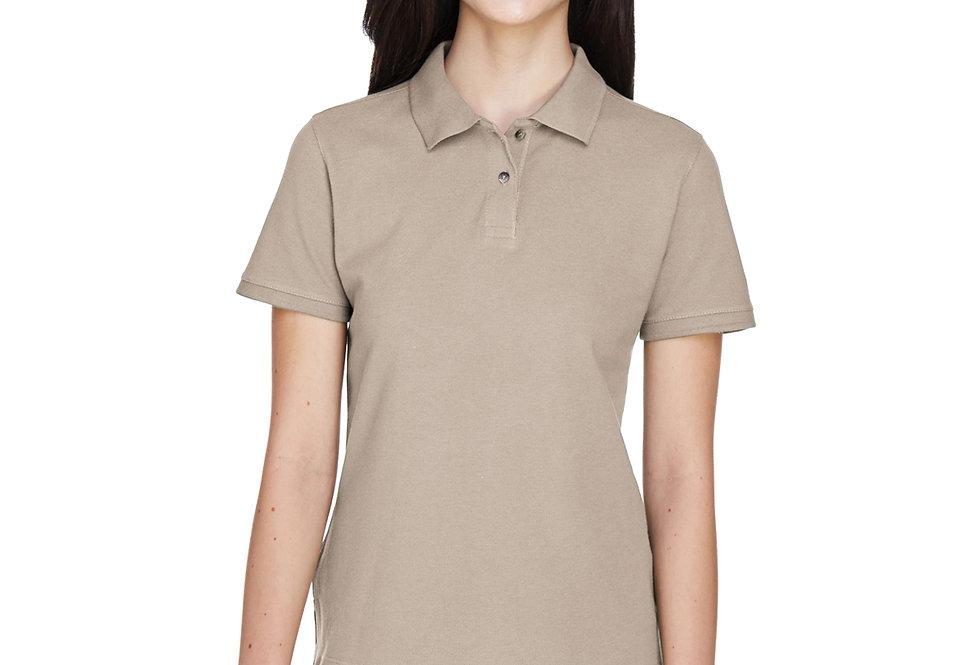 Harriton Ladies' 6 oz. Ringspun Cotton Piqué Short-Sleeve Polo M200W
