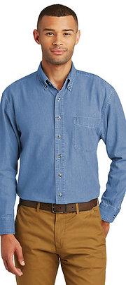 Port & Company Long Sleeve Value Denim Shirt SP10