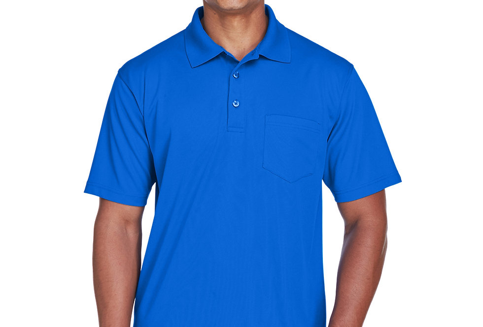 UltraClub Adult Cool & Dry Mesh Piqué Polo with Pocket 8210P