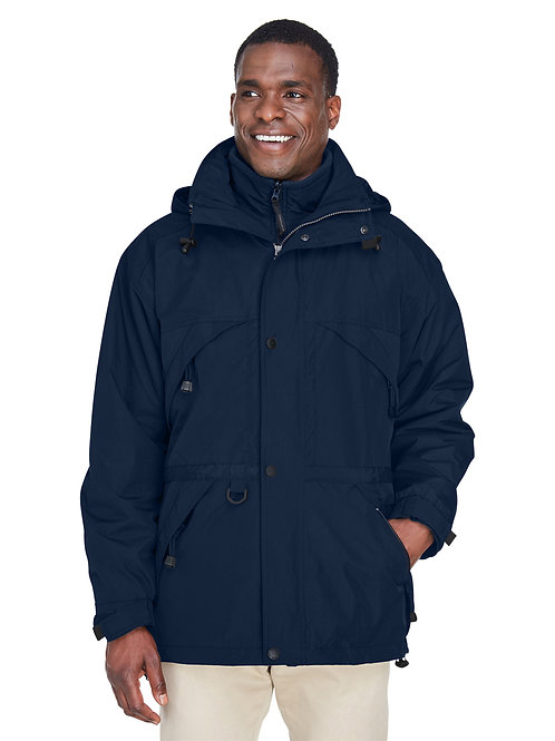 North End Adult 3-in-1 Parka with Dobby Trim 88007